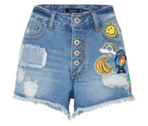 Jeans-Shorts mit Patches blue denim / mischfarben