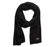 Klassischer gestrickter Schal schwarz