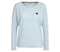 Female Sweatshirt Zeich ma Titten IV hellblau