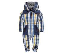 Schneeanzug mit Kapuze blau / gelb / weiß
