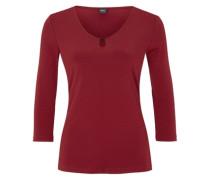 Stretch-Shirt mit Zierausschnitt rot