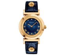 Schweizer Uhr 'vanity P5Q80D282S282' dunkelblau / goldgelb