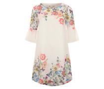 Sommerkleid 'Botanical' weiß / mischfarben