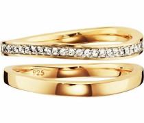 Ring-Set 'sensitive dancer' (Set 2 tlg.) gold