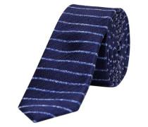 Gemusterte Krawatte navy