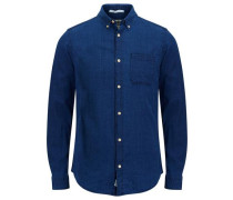 Button-Down-Langarmhemd enzian