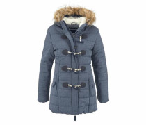 Steppjacke 'tall Marl Toggle Puffle' taubenblau