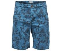 Bedruckte Shorts blau