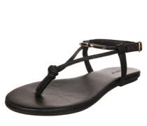 Sandale mit Zehensteg schwarz