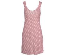 Nachthemd im Pünktchendesign mit Zierschleife pink