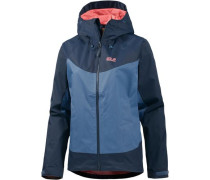 Funktionsjacke 'north Ridge' blau / dunkelblau / koralle