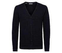 Strick-Cardigan Regular-Fit blau