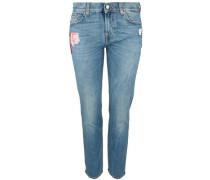 Jeans 'mid Rise Roxanne Crop' blue denim / grün / rot