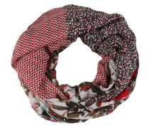 Loop-Schal mit floralem Print beige / braun / rot