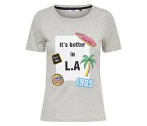 Printshirt 'Better One Way' grau