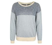 Strickpullover 'Block Biquet Knit' creme / blau
