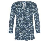T-Shirt florales Blusen-Shirt hellblau / dunkelblau / mischfarben / weiß