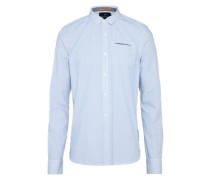 Casual Hemd 'Classic longsleeve shirt with fixed pochet' hellblau
