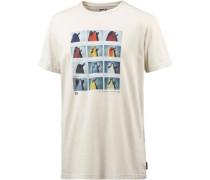 T-Shirt 'Tails' creme / mischfarben