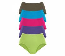 Taillenslips royalblau / oliv / hellgrün / lila / pink