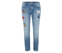 Ex-Boyfriend-Jeans 'Butterfly' blue denim