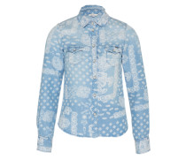 Bluse 'Freedom' blau / weiß