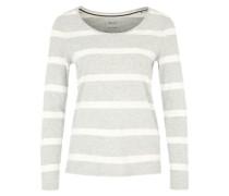 Langarm-Shirt mit Streifen grau