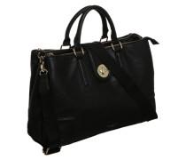Handtasche in Lederoptik schwarz