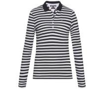 Poloshirt 'new Chiara STR PQ Polo LS' schwarz / naturweiß