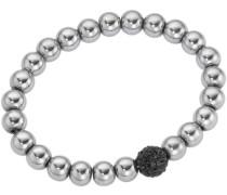 Armband mit Kristallsteinen silber