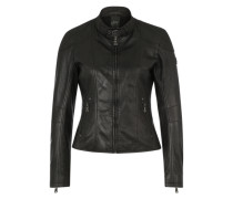 Lederjacke 'Letty 2 SF Lvw' anthrazit