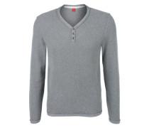 Pullover aus Strukturstrick grau
