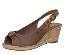 Sling-Sandalette braun