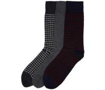 Socken (3er-Pack) grau