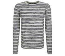 Feinstrickpullover 'stoney Stripes Melange'