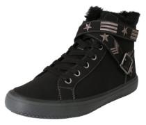 Sneaker mit Riemen-Details schwarz