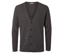 Woll-Strick-Cardigan grau