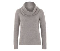 Pullover mit Loop-Schal grau