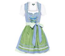 Dirndl 'Vroni' blau / hellgrün / weiß