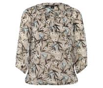 Bluse mit Muster braun / mischfarben