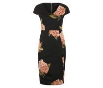 Pencil Dress mit Blumenmuster schwarz