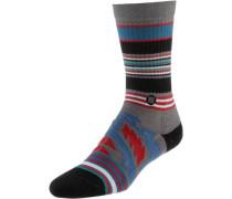 Sneakersocken blau / grau / rot / schwarz