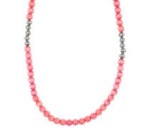 Halskette 'Color Play' pink / silber