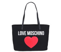 Shopper 'borsa Canvas Nero+Pebble PU Nero'