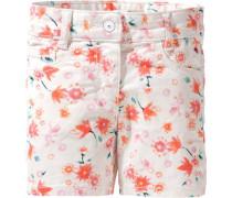 Shorts dunkelorange / weiß
