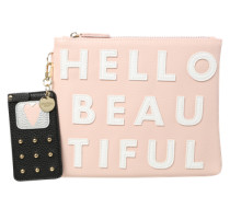 Kosmetiktasche 'Hello Beautiful' pink