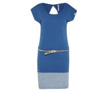 Kleid 'Soho' royalblau / graumeliert