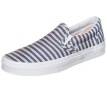 Sneaker 'Classic Slip-On Stripes' blau / weiß