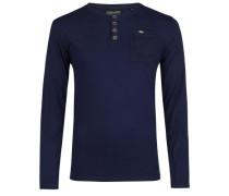 Langarmshirt blau