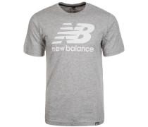 Classic T-Shirt Herren grau / weiß